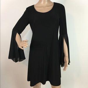 Msk bell sleeve shift dress stretchy size S evenin